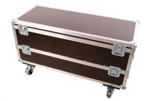 Flightcase für 8 Stück Litecraft Powerbar 2 mit Erweiterungsring für weitere 8