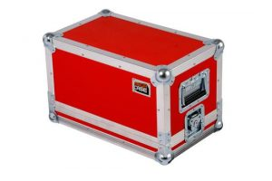 Flightcase in red for Hook Amp head