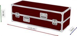 Flightcase Koffer halb halb Innenmaße 110x40x35cm BxTxH für Rednerpult