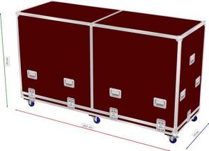 Heavy Flightcase with a divided lid 2500x850x1300mm WxDxH