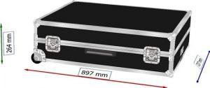 Koffer Case PVC mit Eckeinbaurollen
