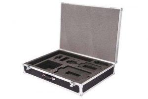 Kofferflightcase schwarz mit Inlay für diverse Apple Produkte