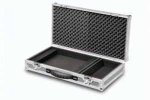 Lap Top Case grau mit 15 cm Zubehörfach