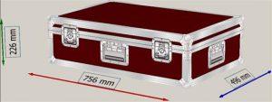 Panasonic PT-EX600E Flightcase + Zubehörfach