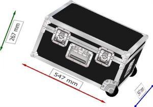 Transportcase aus Kunststoff 530 x 530 x 250