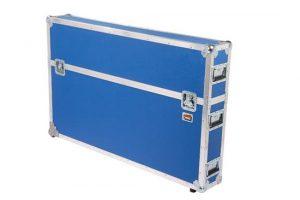 Transportcase blau auf Rollen Samsung Typ UE55F6170SS