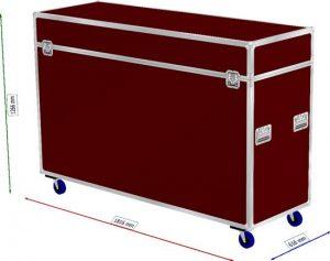 Truhen Case Deckel abnehmbar (20cm Innenhöhe) auf Rollen 2x gebremst