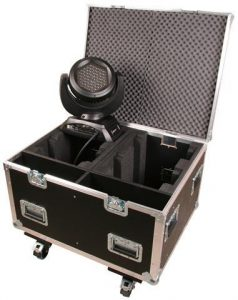 Truhencase schwarz mit Rollen JB-Lighting A4 / 7 Sparx7 4in1