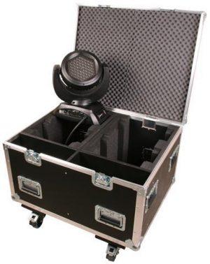 Truhencase schwarz mit Rollen JB-Lighting A4 / 7 Sparx7 4in1