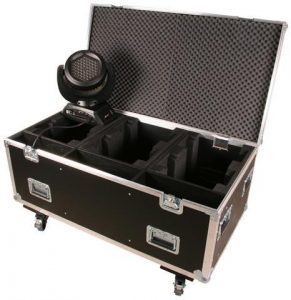 Case schwarz mit Rollen JB-Lighting A4 / 7 Sparx7 6in1