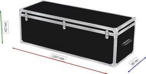Truhenflightcase 124x45x40cm BxTxH Deckel abnehmbar