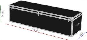Truhenflightcase 180x50x45cm BxTxH Deckel abnehmbar