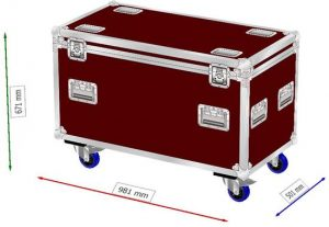 Trunk case on wheels compartments 310x480x500mm WxDxH 3in1