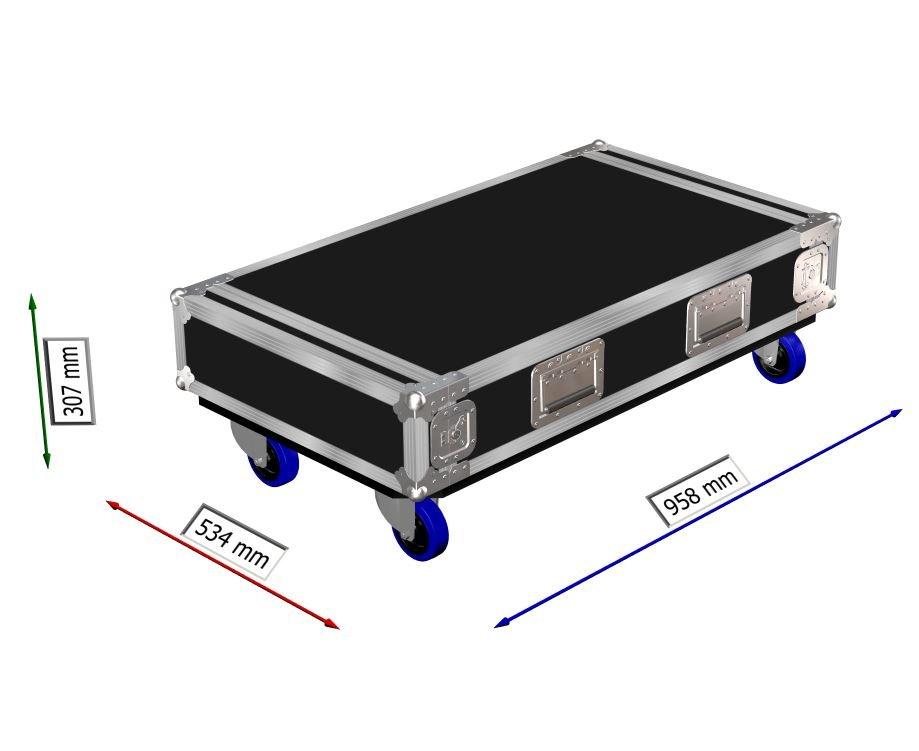 3he live rack 80 schwarz rackschiene vorne und hinten mit rollen g nstig kaufen megacase. Black Bedroom Furniture Sets. Home Design Ideas